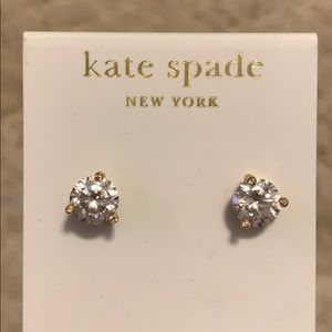 Kate Spade New York small clear stud earrings